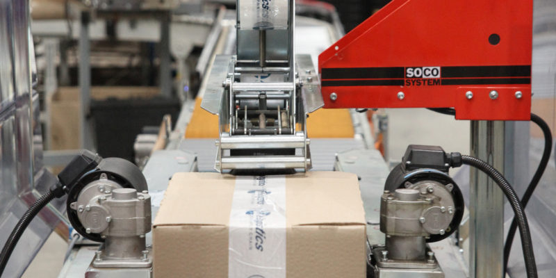 L4 Logistics - retail packing line scotcheuse automatique