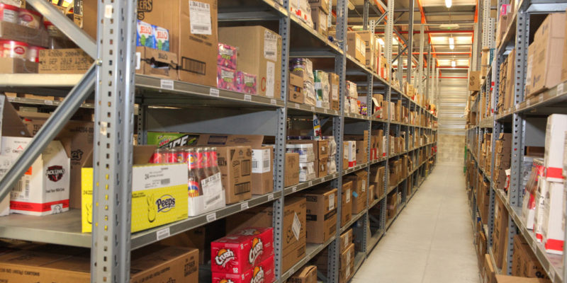 L4 Logistics - stock rayonnages légers articles alimentaires
