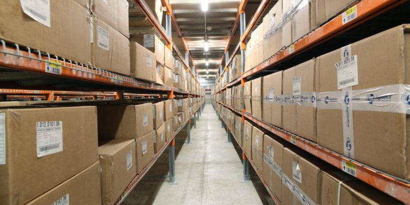 L4 Logistics - stock rayonnages légers mezzanine